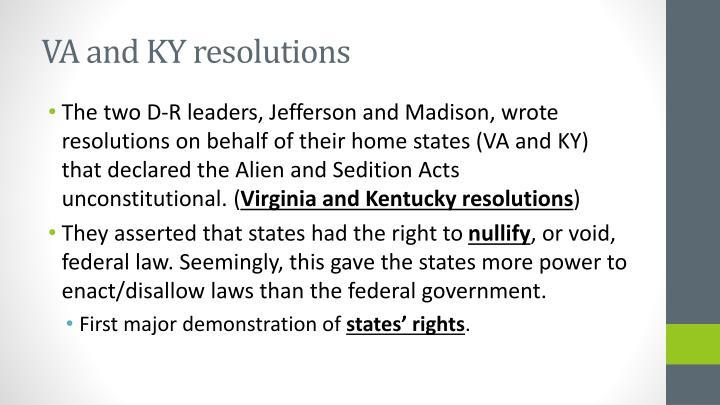 VA and KY resolutions