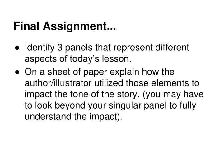 Final Assignment...