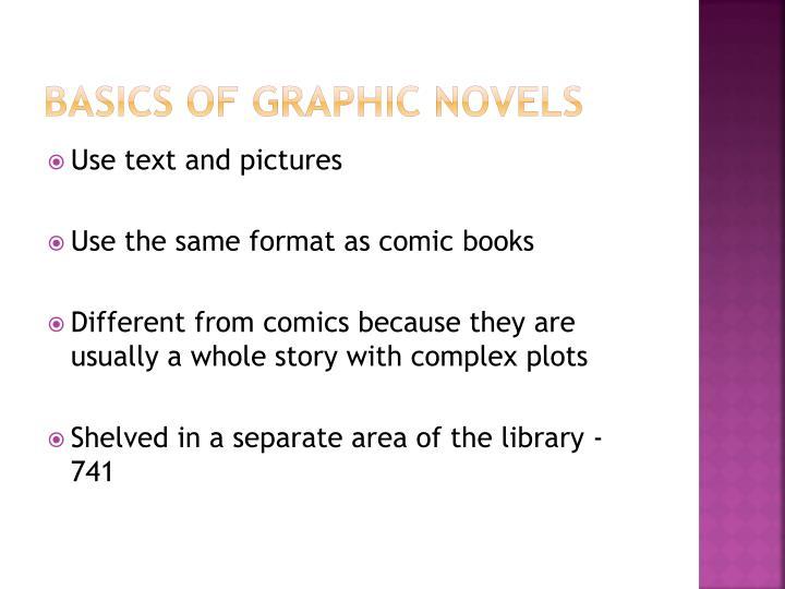 Basics of graphic novels