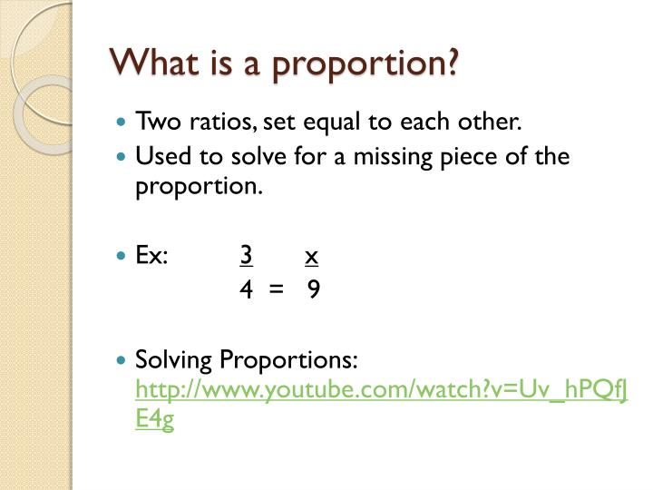 What is a proportion?