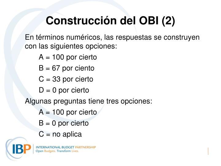 Construcción del OBI (2)