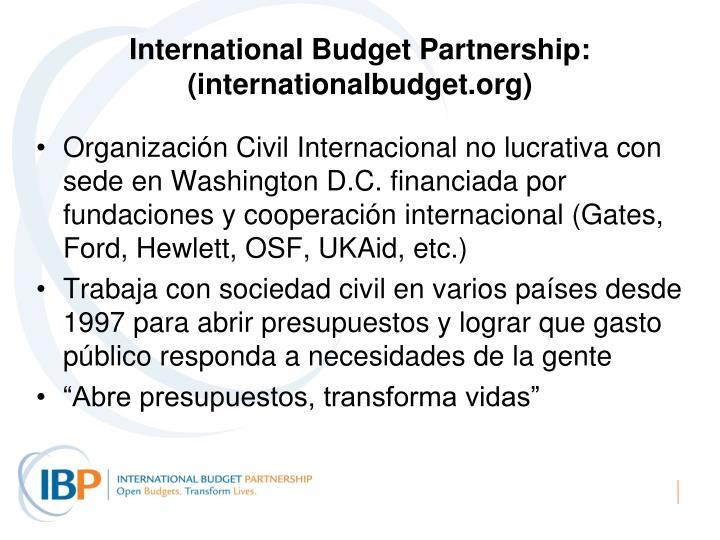 International Budget Partnership: (internationalbudget.org)