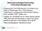 international budget partnership internationalbudget org