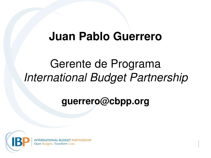 Juan Pablo Guerrero