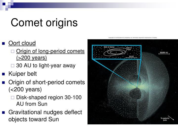 Comet origins
