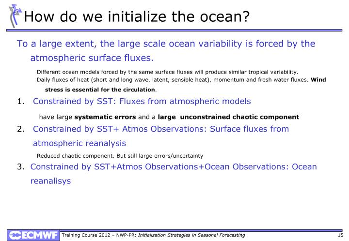 How do we initialize the ocean?