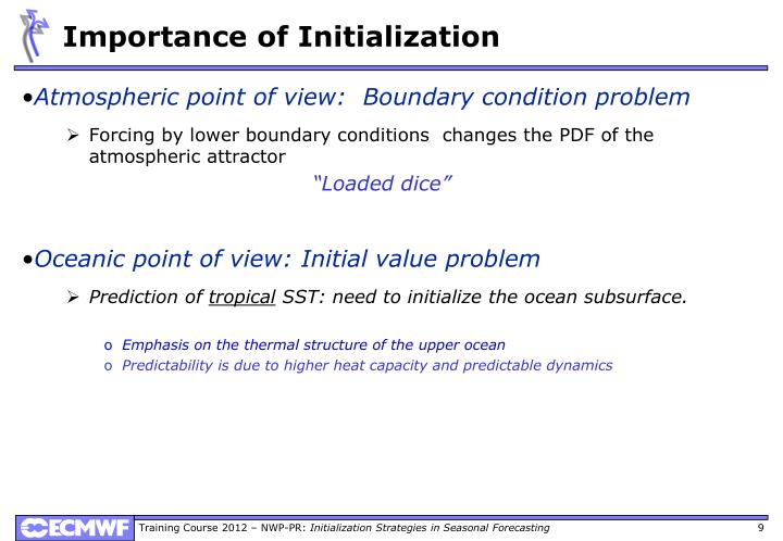 Importance of Initialization