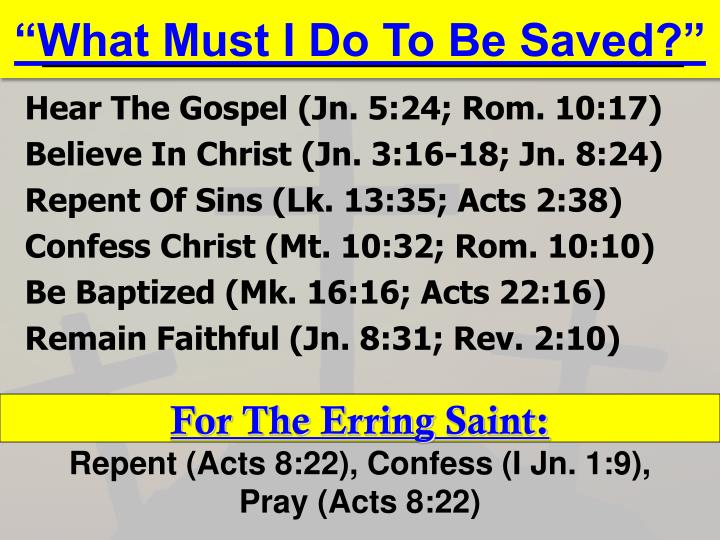 """""""What Must I Do To Be Saved?"""""""