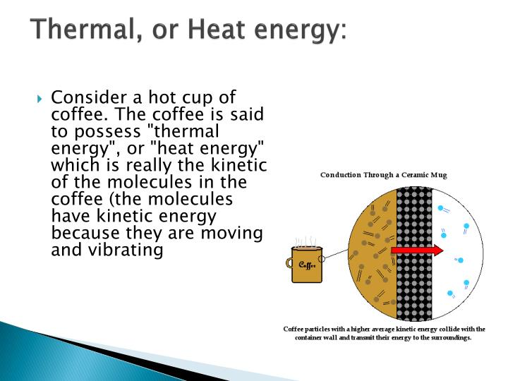 Thermal, or Heat energy: