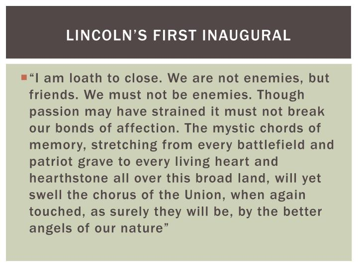 Lincoln's First Inaugural