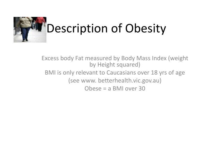 Description of Obesity