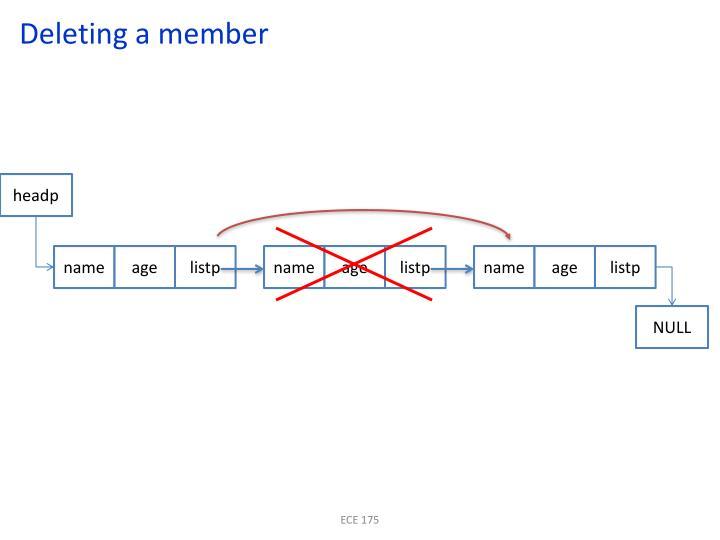 Deleting a member