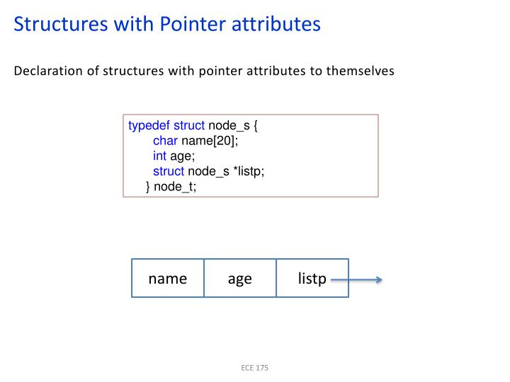 Structures with Pointer attributes