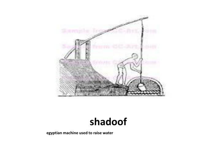 shadoof