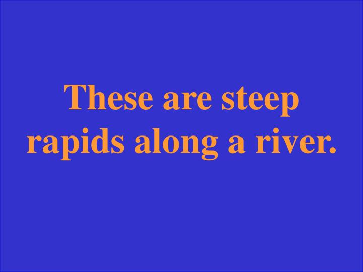 These are steep rapids along a river.