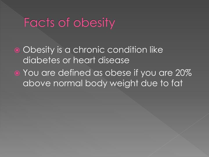 Facts of obesity