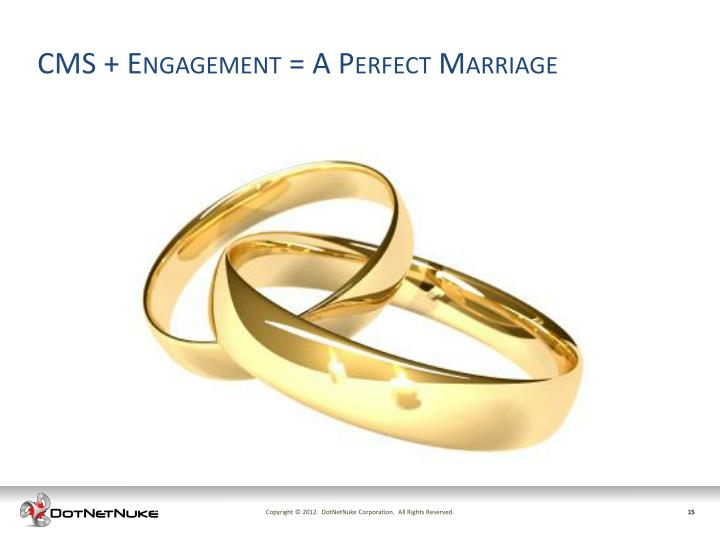 CMS + Engagement = A Perfect Marriage