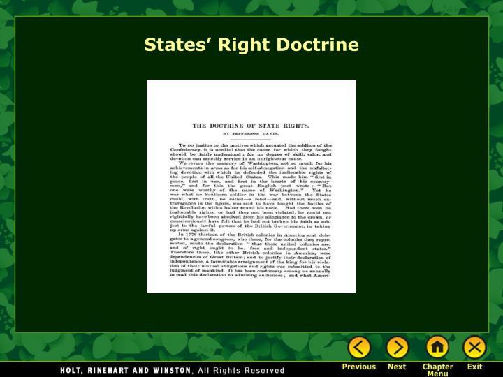 States' Right Doctrine