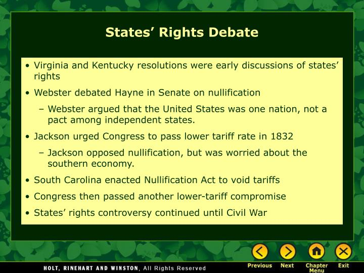 States' Rights Debate