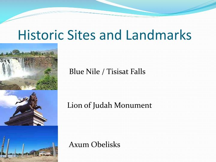 Historic Sites and Landmarks