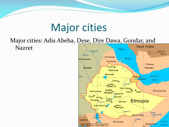 Major cities