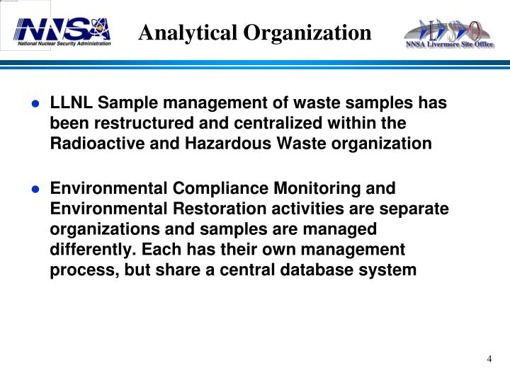 Analytical Organization