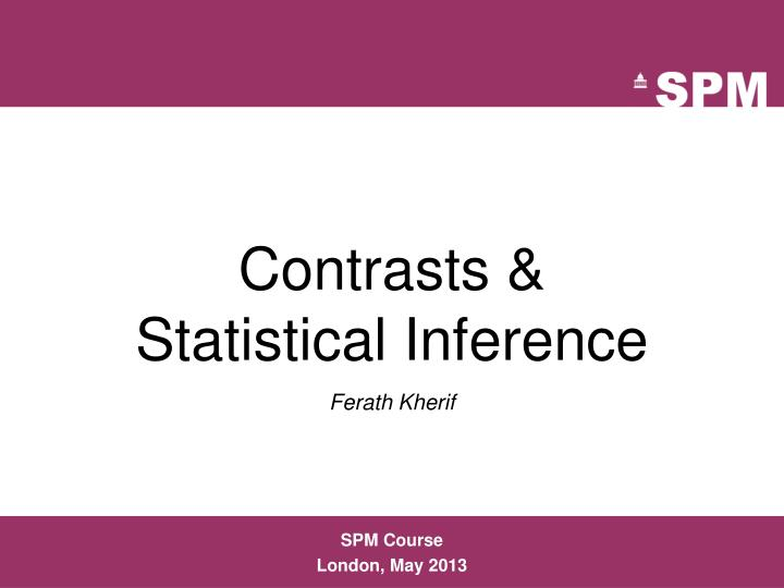 Contrasts statistical inference