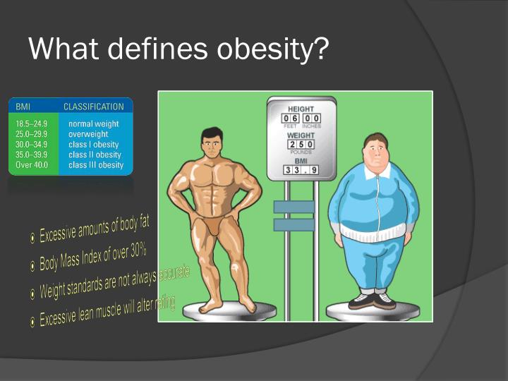 What defines obesity