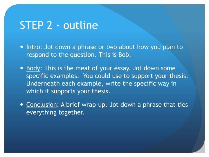 STEP 2 - outline