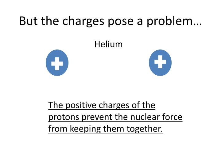 But the charges pose a problem…