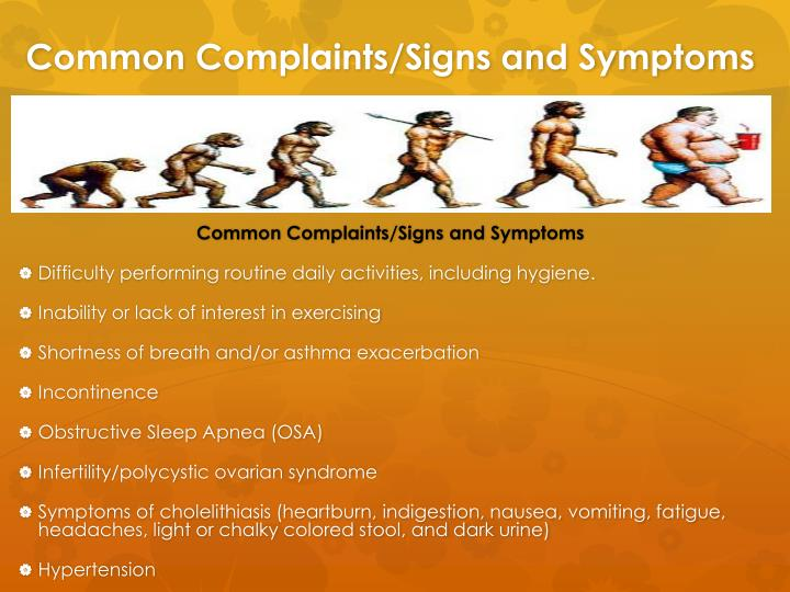 Common Complaints/Signs and Symptoms