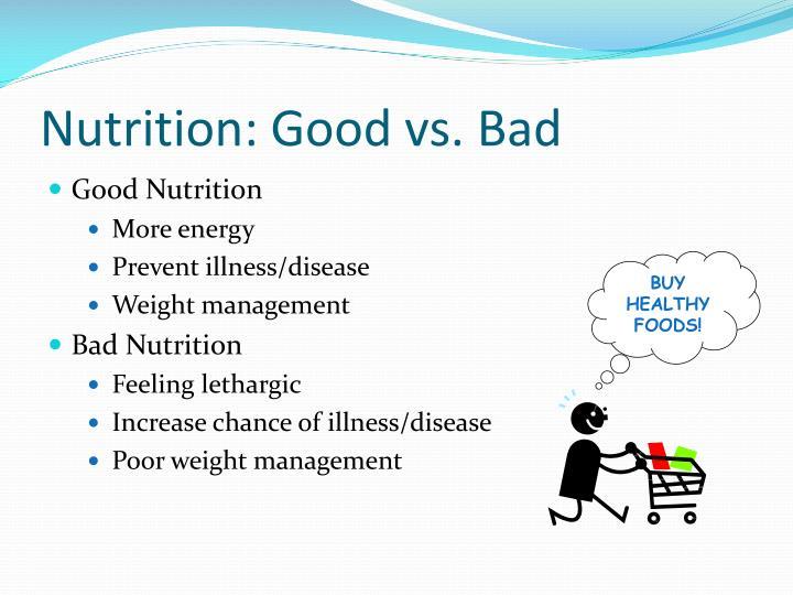 Nutrition: Good vs. Bad
