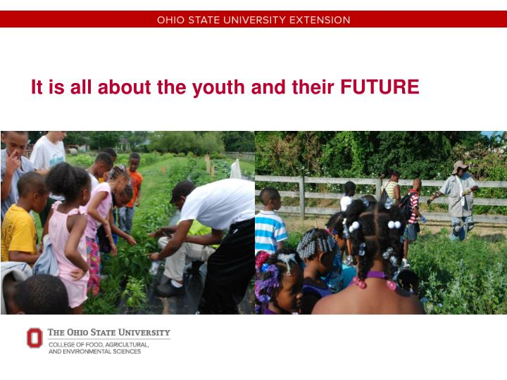 It is all about the youth and their FUTURE