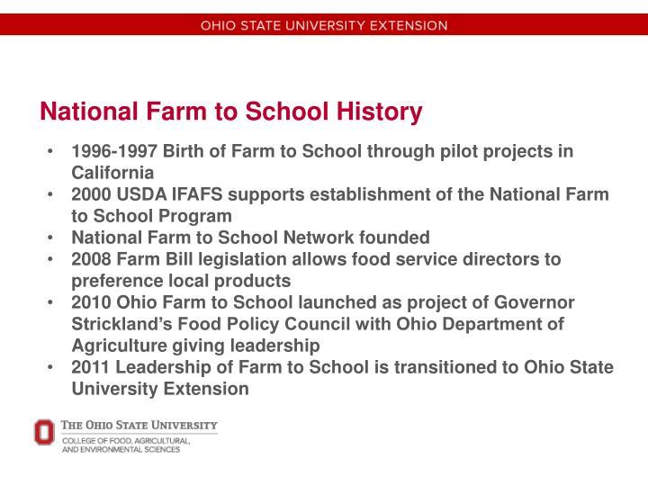 National Farm to School History