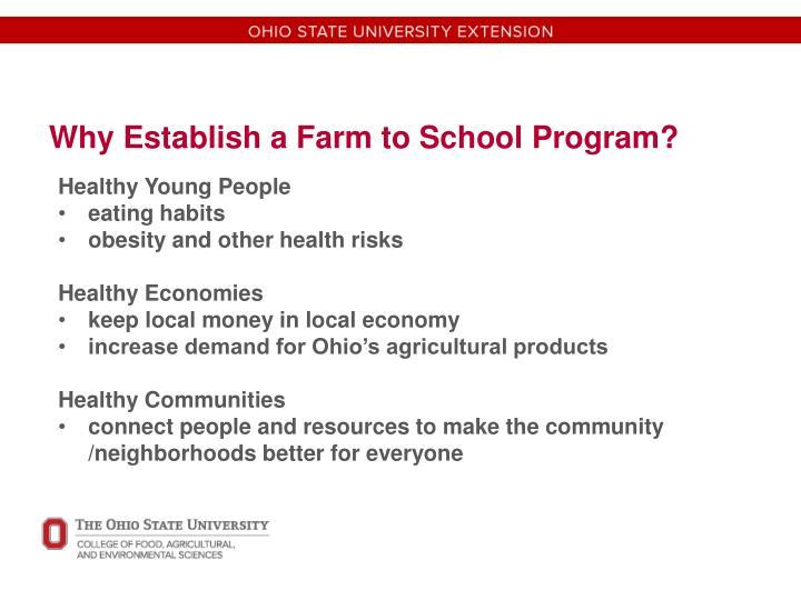 Why Establish a Farm to School Program?