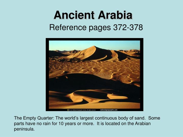 Ancient arabia