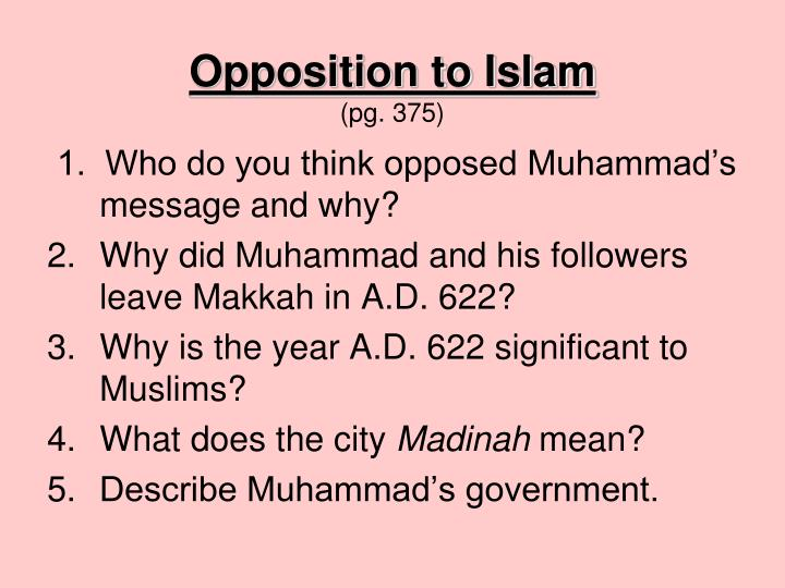 Opposition to Islam