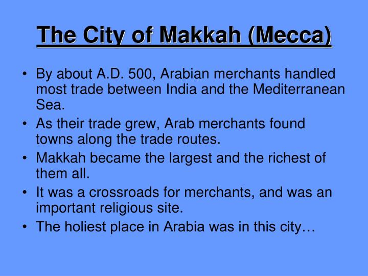 The City of Makkah (Mecca)