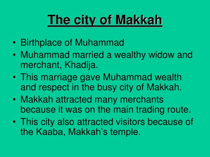 The city of Makkah