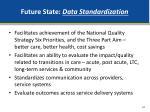 future state data standardization