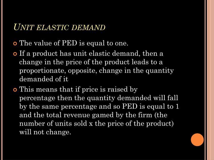 Unit elastic demand
