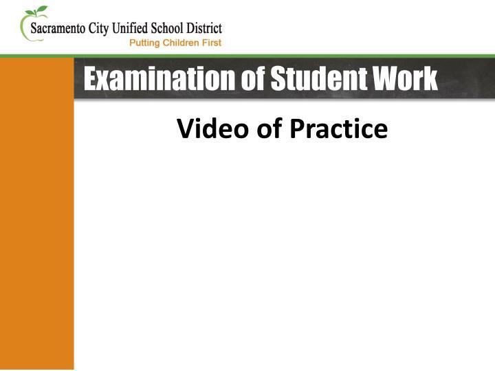 Examination of Student Work