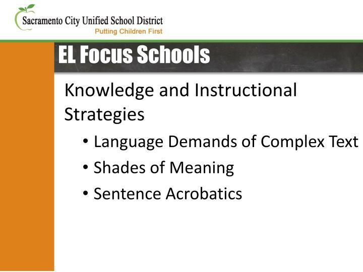 EL Focus Schools