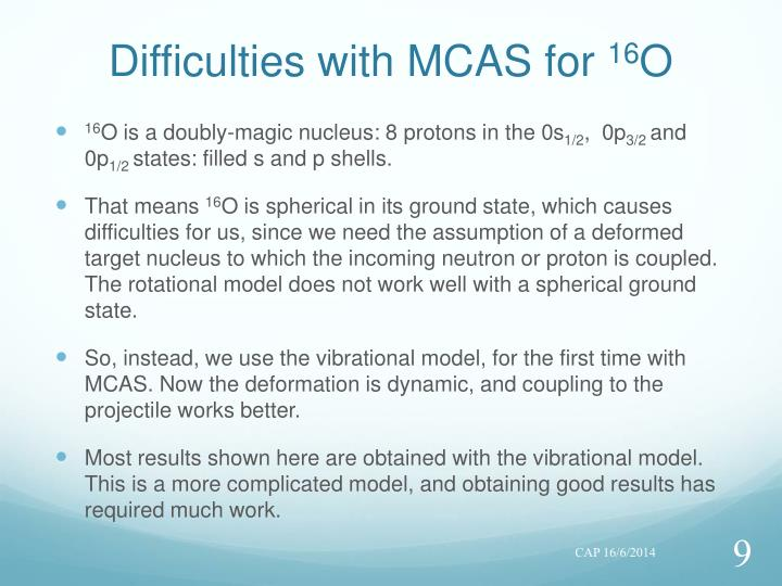 Difficulties with MCAS for