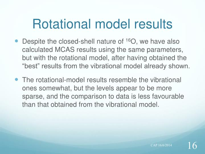 Rotational model results
