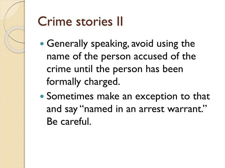 Crime stories II