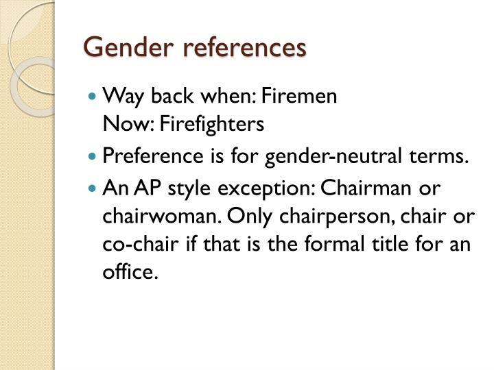 Gender references