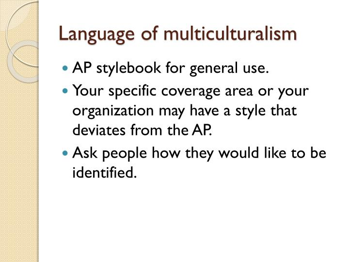 Language of multiculturalism