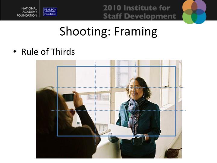 Shooting: Framing