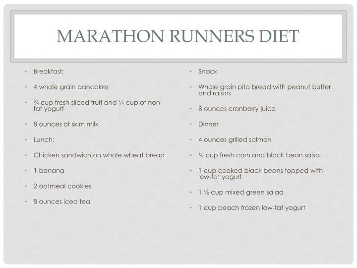 Marathon Runners Diet